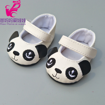 """Doll shoes for 43 cm new born baby Doll black white Prink Shoes For 18"""" Girls Doll shoes sneacker doll Accessories 1"""