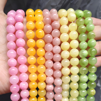 Wholesale Jades Chalcedony Beads Natural Stone Bedas for Jewelry Making Loose Spacer Round Beads DIY Necklace Bracelet 15inch wholesale faceted green chalcedony jades stone beads round loose spacer bead for jewelry making diy bracelet 15 4 6 8 10 12mm