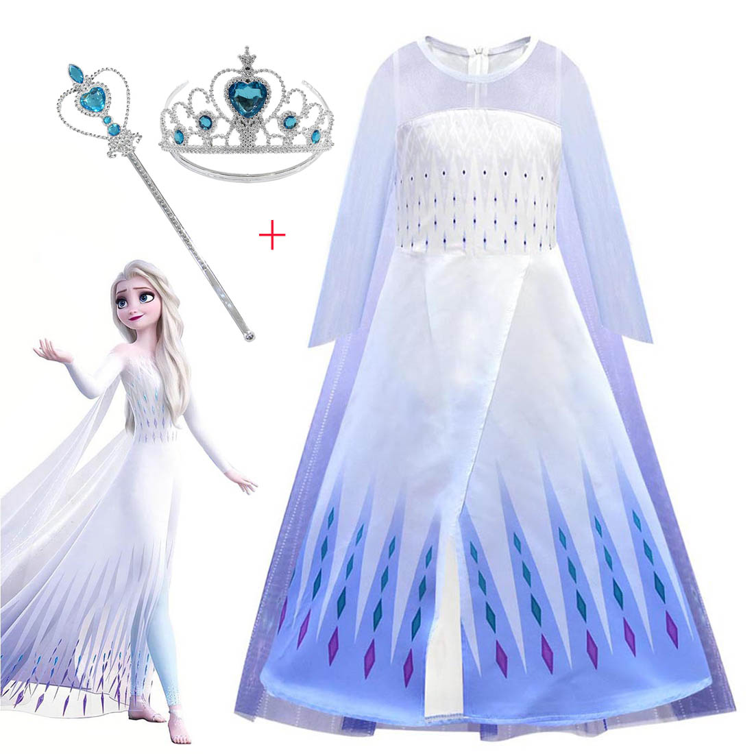 Frozen 2 Elsa Dress Kids Dresses For Girs Anna Cosplay Costume Toddler Carnival Birthday Party Princess Dress For Girl Clothing