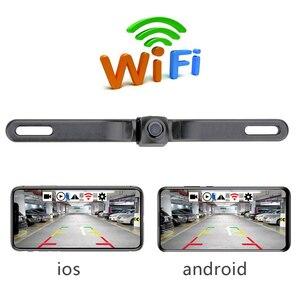 Hd rearview 카메라 방수 라이센스 플레이트 wifi 백업 카메라 차량 자동 자동차 역방향 백업 주차 야간 투시경