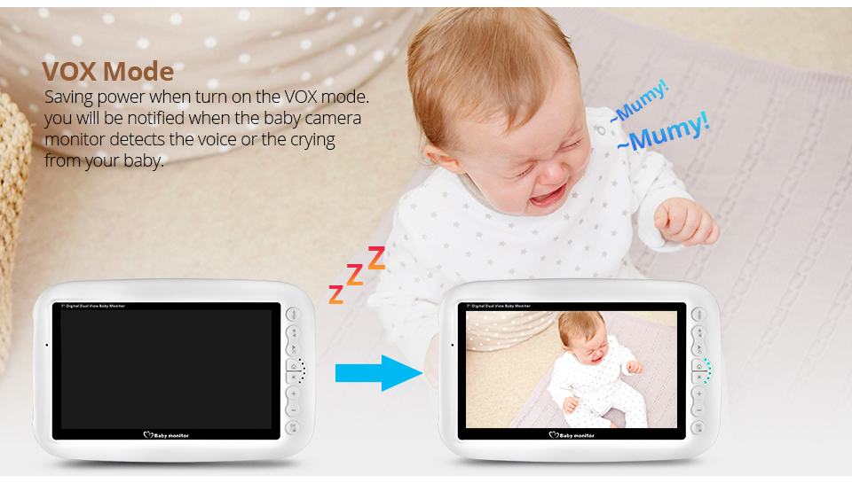 7 Inch Wireless Baby Monitor With 720P HD Screen Camera To Check Your Baby Monitor Screen 16