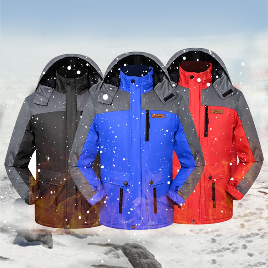 Hooded Fleece Hiking Camping Sport Outdoor Coat Winter Jacket Men Windbreaker Waterproof Jacket Softshell Jacket Men Corta Vento
