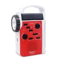 Mini Hand Generator Bluetooth Speaker Outdoor Radio Emergency Solar Crank Dynamo Mobile Power Supply LED Flashlight Torch