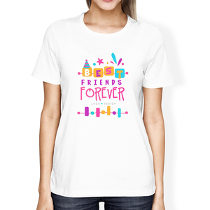 Women Tee Best Friend BFF Shirts Matching Cartoon letter Print Girlfriend Tshirt Cute Best Friend T Shirts Outfits
