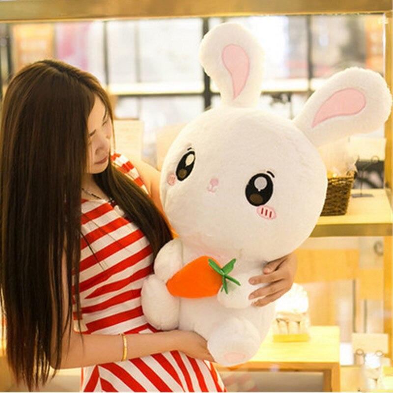 26''Giant gros lapin blanc jouets en peluche animaux en peluche jouets en peluche poupée cadeaux jouets pour enfants en peluche de noël anniversaire filles enfants cadeau