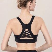 Спортивный бюстгальтер Бралетт короткий топ Для женщин йоги