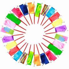 Rubans de gymnastique colorés de 2M, 4M, 6M, pour danse, Art rythmique, gymnastique, Ballet, banderole, tige tournante, arc-en-ciel, entraînement