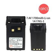 10X 7.4V 1700Ah Li-ion Battery For Walike Talkie KG-UVD1P, KG-UV6D, KG-659, KG-669, KG-679, KG-689, KG- 689 Plus, KG-699 Radio