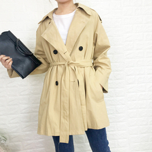women coat european Windbreaker female short paragraph simple high 2019 early autumn popular khaki windbreaker jacket