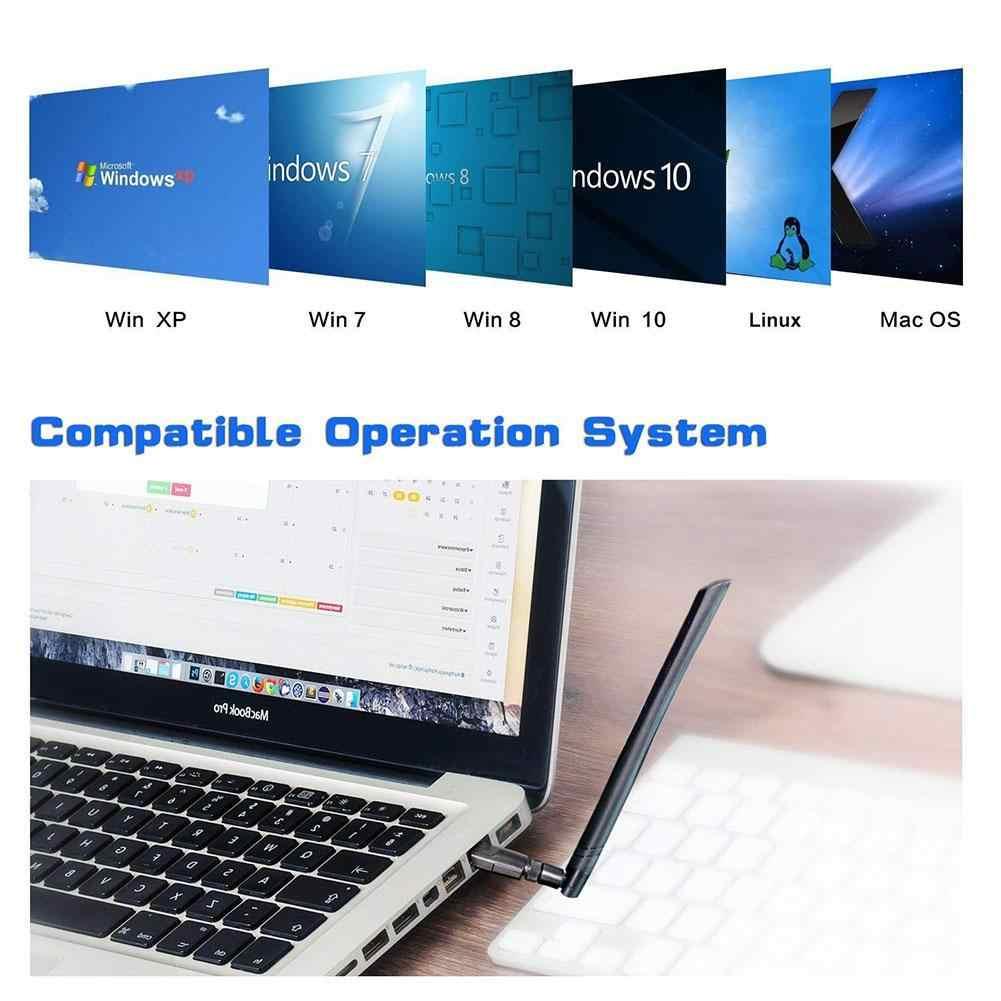1200Mbps WLAN carte WiFi récepteur USB 3.0 double bande 5G/2.4G 5dBi antenne WIFI clé USB adaptateur pour Windows/Mac OS
