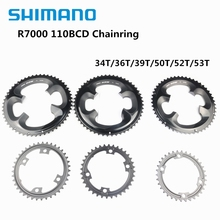 цена на Shimano 105 R7000 11 Speed Road Bike Bicycle Chainring 110BCD 34T 36T 39T 50T 52T 53T Tooth Road Bike For R7000 R8000 Crankset