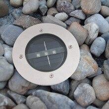 3 светодиодный теплый белый свет солнечный подземный свет полностью металлические панели со светодиодными светильниками свет квадратный Свет