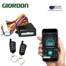 GIORDON – système universel d'alarme de voiture, Kit Central de verrouillage de porte avec application sans clé, contrôle à distance, verrouillage Central