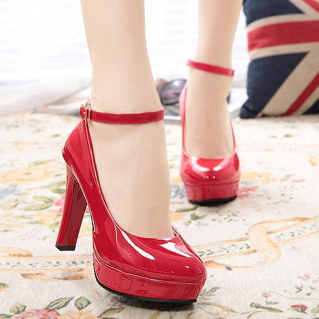 2015 New Style Fashion Shallow Mouth Small Shoes Waterproof Platform Ultra-High-Heel Group With WOMEN'S Shoes Work Shoes