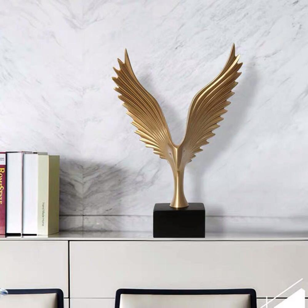 1pc Simulated Abstract Open Wing Eagle Bird Art Model Home Living Room Office Hotel Decor Gift  Home Office Hotel Decoration