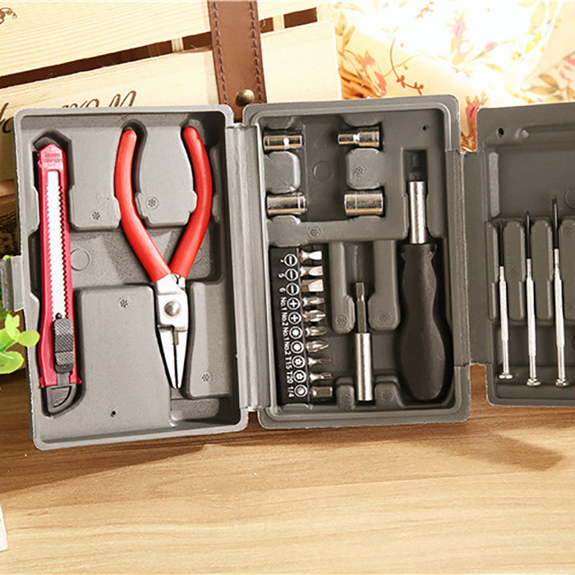 24-Piece Home Car Insurance Gift Set Hardware Tool Kit Repair Combination Tool Set 1