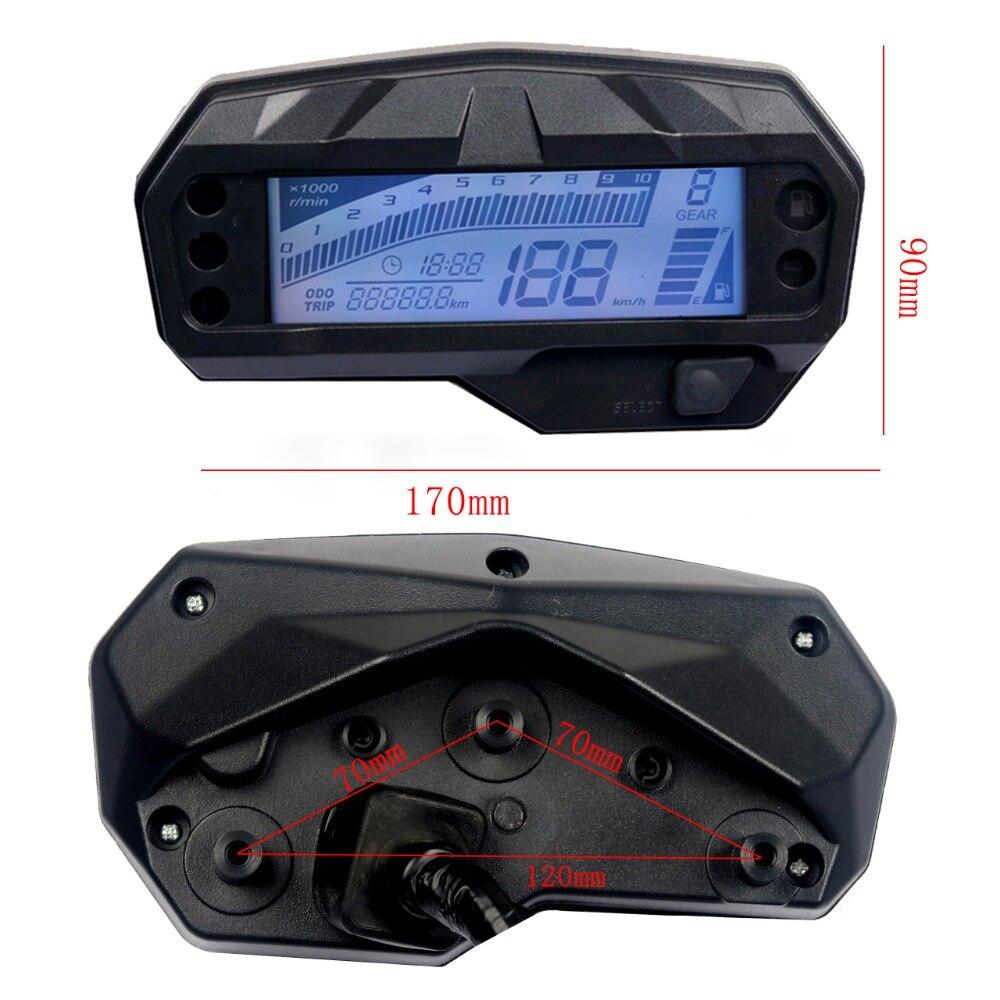 Anjuley Moto Universal LCD Digital Term/ómetro Instrumento Temperatura del Agua Medidor de Temperatura para KOSO Yamaha Racing Scooter