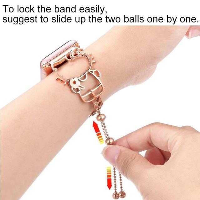 Bracelet chat pour Apple montre Bracelet 42mm 44mm 38mm sangles pour Apple Watch 4 3 2 1 Bracelet pour iWatch bande 42mm bandes acier inoxydable