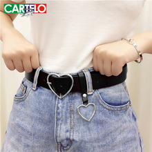 CARTELO Genuine leather ladies high quality alloy love pin b
