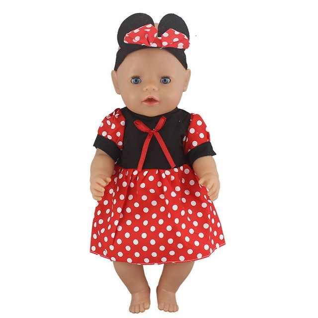 فستان الدمية يصلح ل 43 سنتيمتر طفل دمية دمية تولد من جديد الأطفال الملابس و 17 بوصة إكسسوارات دمي