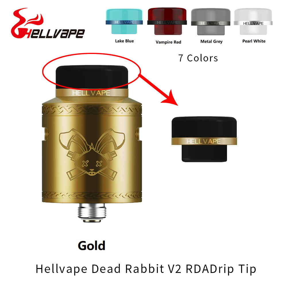 Hellvape Dead Rabbit V2 BF RDA 810 Drip Tip Mouthpiece For 810 Vape Tank Atomizer 810 Thread Electronic Cigarette Accessories