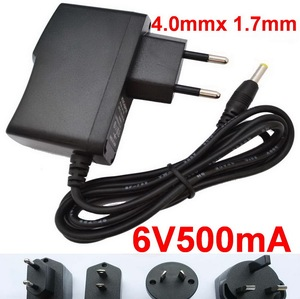 1pcs 6V 500mA 0.5A Adapter for Omron HEM-7121 HEM-7120 Blood Pressure Monitor