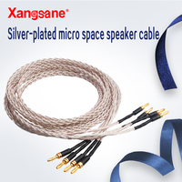 Xangsane fever grade high fidelity micro space OCC silver plated audio speaker cable HIFI dedicated audio cable 8 strand braid