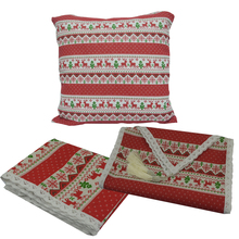 Table Runner Cushion-Cover Party-Decoration Tassel Lace Merry-Christmas Printed Cotton