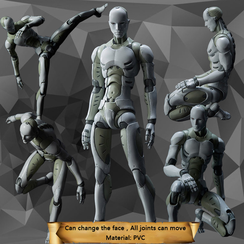 2 Heavy Industries Synthetic Human 1/6 And 1/12  Scale Action Figure Collectible Model Toy Doll Gift 16cm-30cm