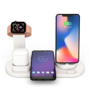Image 2 - Qi Chargeur Sans Fil Support de Quai pour Apple Montre 5 4 3 2 1 iPhone 11 Xs Xr 8 Plus Airpods Pro 10W Station De Charge Rapide Sans Fil