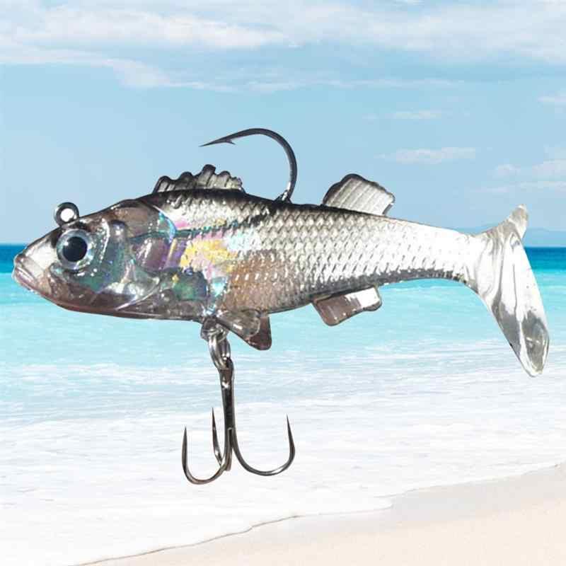 Señuelos de Pesca cebo suave similar a la vida con anzuelos afilados pesca de agua salada de agua dulce para trucha cabeza de serpiente Walleye salmón bajo