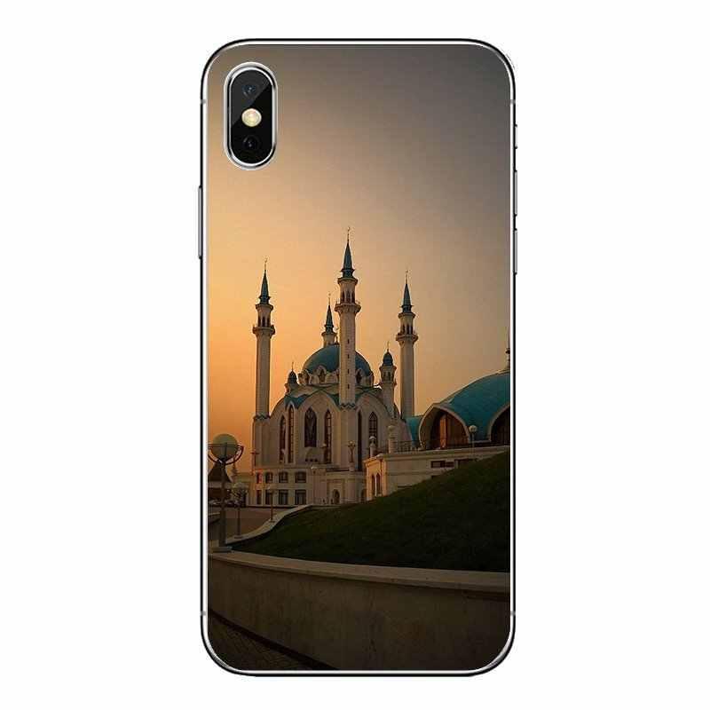 Pour iPod Touch iPhone 4 4S 5 5S 5C SE 6 6S 7 8 X XR XS Plus MAX étuis souples transparents couvre Qolsharif mosquée Kazan russie