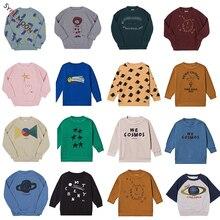 Новинка года; сезон осень-зима; брендовые Детские свитера BC; пуловер с модным принтом для мальчиков и девочек; Детские хлопковые топы; одежда