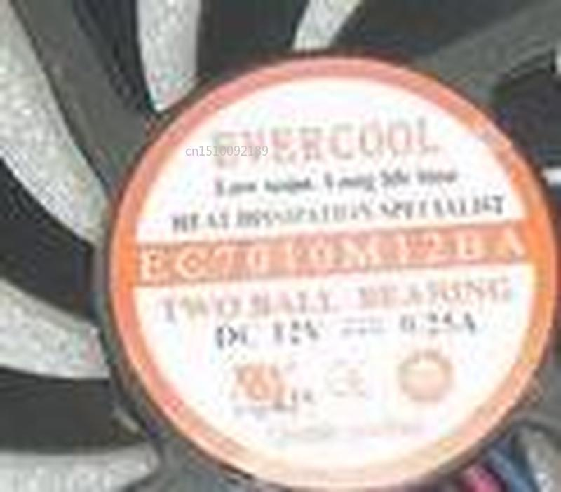 Genuine For EVERCOOL EC7010M12BA DC12V 0.25A 7010 7CM 70MM 70x70x10 3pin 3wire Cooling Fan Free Shipping