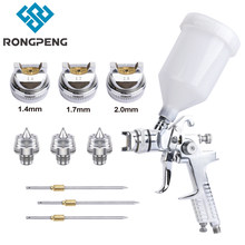 RONGPENG H-827 Spray Gun HVLP 1.4 1.7 2.0mm Nozzle Gravity Feed Paint Airbrush Pneumatic Tool For Primer Finish Coat Painting