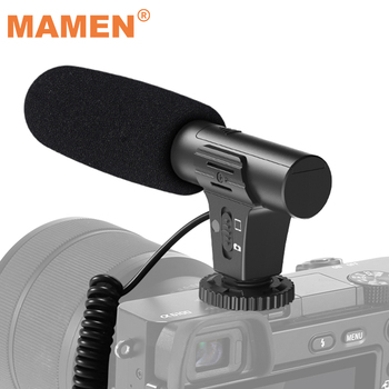 2021 Updated 3.5mm HD Video Recording Microphone Smart Noise Reduction Interview Mic for Nikon Canon Sony iPhone Xiaomi Huawei 1