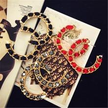 Women Female Vintage Simple Big Hoop Earring Fashion C C Geometric Metal Earring  Jewelry Wholesale-MS-W17