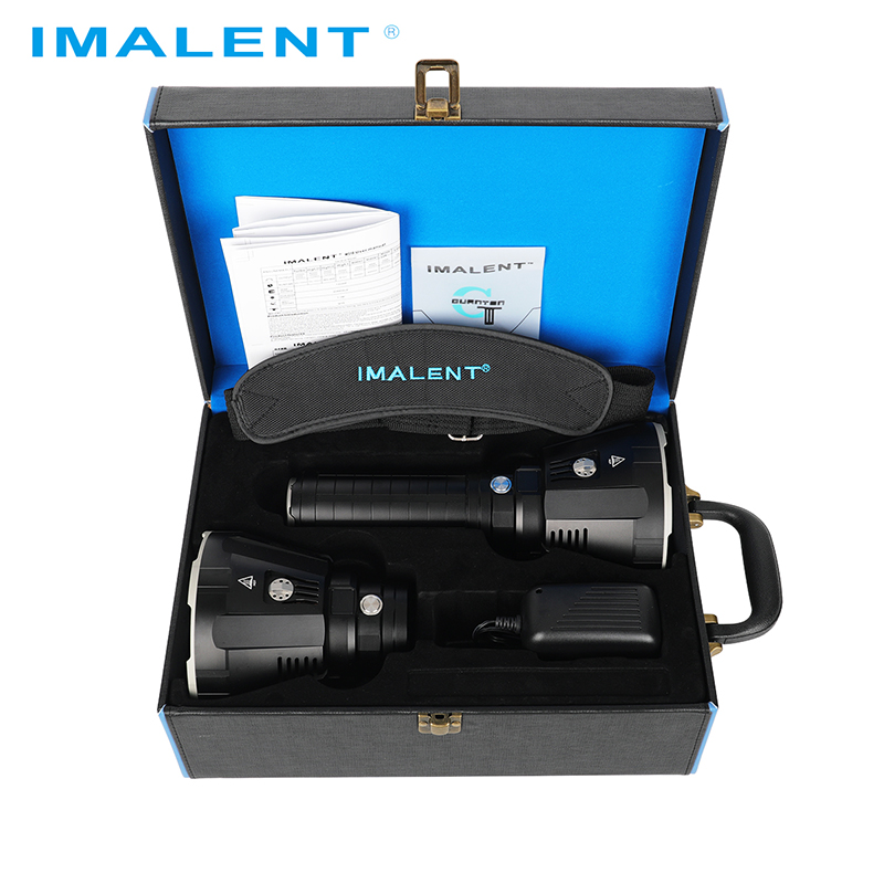 IMALENT MS18 ไฟฉาย LED + R90TS ชุดหัว CREE XHP35 HI/CREE XHP70.2 100000 LM แสงแฟลชชาร์จอัจฉริยะสำหรับค้นหา