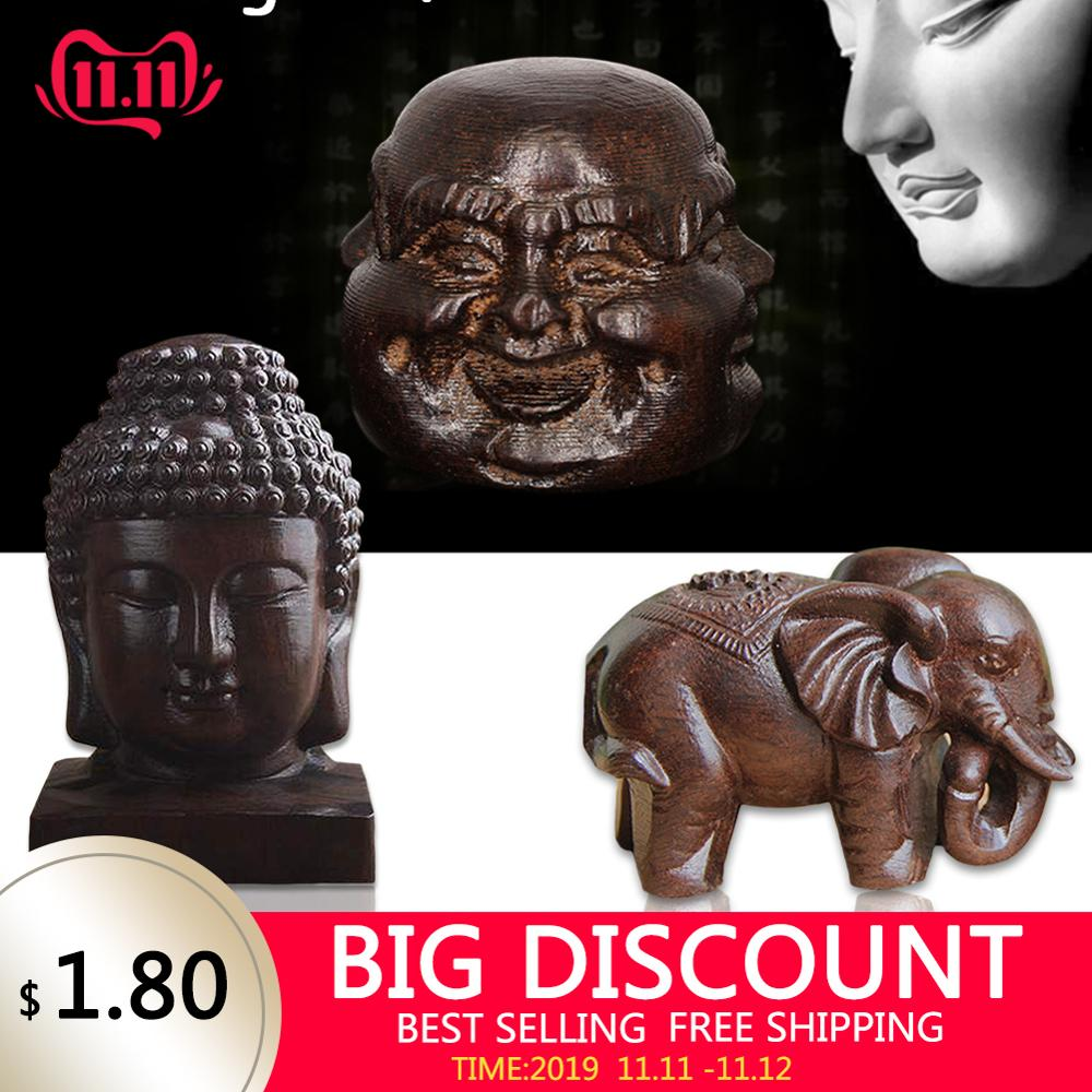 Wooden Carving Boutique Decor Blessing Buddha Arts And Crafts Statue Home Decoration Lucky Gifts New