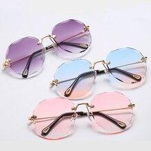 New Frameless Sunglasses Women Oversized Sunglasses Men Wome
