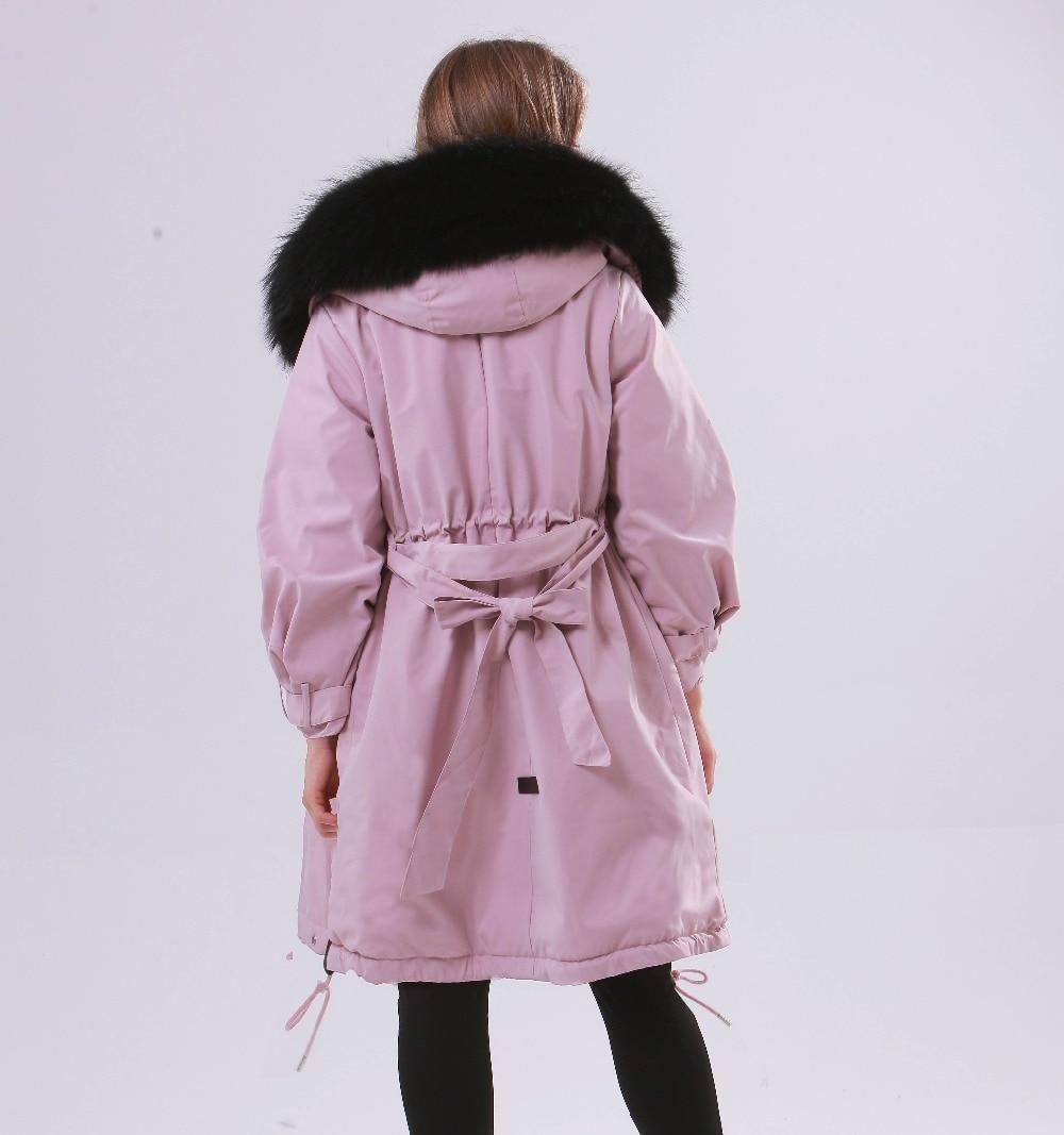 Large Natural Raccoon Fur Winter Jacket Women Hooded 19 Long Parkas For Female Thick Slim Down Winter Coat Women Waterproof 14