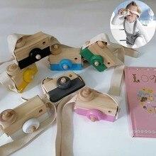 Милые деревянные игрушки в скандинавском стиле, камера для детей, подвесная камера для фотосессии, украшение, детские игрушки Монтессори, детские подарки на день рождения, Рождество