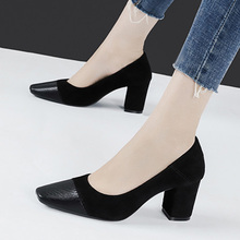 Ladies High Heels Square Head Camel Sex Office Ladies High Heels Shallow Mouth Fashion Casual Women Shoes Spring New Style