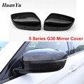 Крышки заднего вида LHD из углеродного волокна для BMW 5 6 7 серии G11 G12 G30 G31 GT G32  замена бокового зеркала 2017 2018