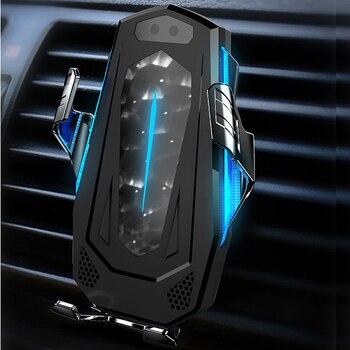 Умный датчик автомобильное беспроводное зарядное устройство окружающее освещение Qi Быстрая зарядка держатель для Huawei Mate30pro P30pro для Samsung S10 +...