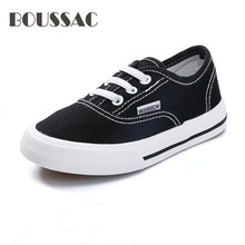 BOUSSAC Brand childrens shoes 2019 new boys girls baby casual canvas kids breathable Sneakers students white sports
