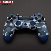 PS4 Pro Blauw Camo Front Back Soft Touch Frontjes Behuizing Shell Case Cover voor Sony PS4 Pro JDS040 JDM040 v2 gen 2th Controller