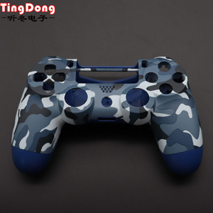 Image 1 - PS4 Pro Blue Camo Front Back Soft Touch Faceplates Housing Shell Case Cover for Sony PS4 Pro JDS040 JDM040 v2 Gen 2th Controller