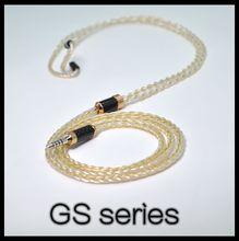 1% ouro + 99% prata pura + ouro galvanizado prata pura, fone de ouvido atualizar cabo mmcx 0.78mm 2pin