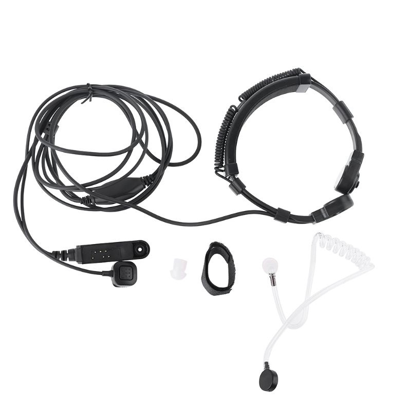 Telescopic Throat Vibration Mic Earpiece Headset For Baofeng UV-9R Plus Radio